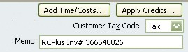Invoice details sent to QuickBooks with our rental software