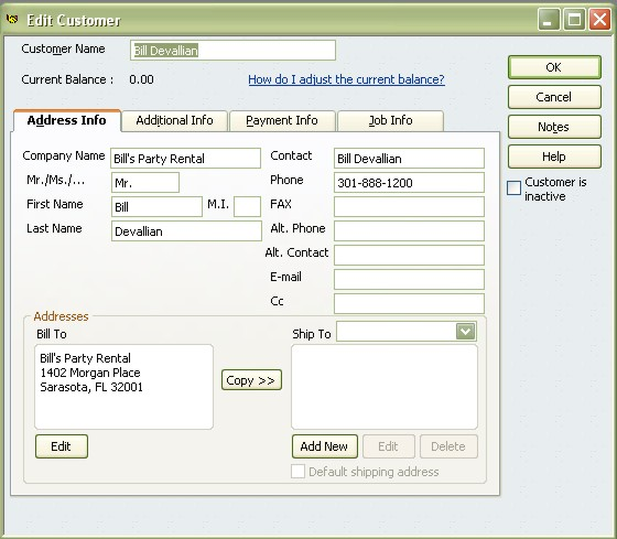 Client names automatically added to QuickBooks with our rental software